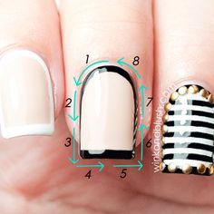 Framed Nails Tutorial: So Chanel-like, so elegant. Great tutorial!!
