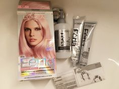 L Oreal Feria Smokey Pastels Pink P2 Unboxed Rose Gold Hair At Home