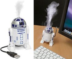 R2-D2 USB Humidifier. I could actually use this in my life.