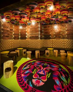 Glamp adds another level of African adventure to an exotic bar in Glamp Cocktail Bar Melbourne. Cocktail Bar Interior, Cocktail Bar Design, African Interior Design, Restaurant Interior Design, Coffee Shop Design, Cafe Design, Indian Cafe, Mexican Restaurant Design, Ethiopian Restaurant