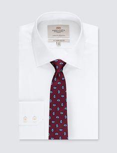 Men's Red Teardrop Design Tie - 100% Silk