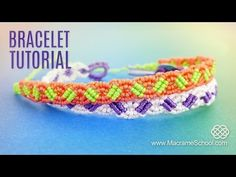 Small Wave Bracelet Tutorial by Macrame School - YouTube