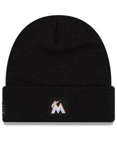 New Era Miami Marlins Sport Knit Hat - Black Adjustable bca9902fd976