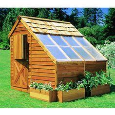 Cedar Shed Sunhouse Backyard Greenhouse Storage  8x8 Feet  Shed- Cedarshed