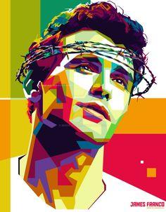 Картинки по запросу james franco pop art