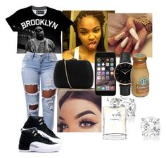 Brooklyn ❣️ by naturallcurlss on Polyvore featuring polyvore fashion style Serpui Topshop Chanel clothing
