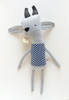 Plush Goat Friend- Finkelstein's Center Handmade Creature