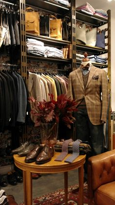 Looking for a new way to accessorize your look Look no further! Sharp Dressed Man, Well Dressed Men, Lofts, Men Closet, Mens Designer Shoes, Shop Layout, Retail Interior, Shop Interiors, Suit And Tie