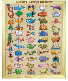 Jogo Quebra Cabeça Metades com 55 Peças - Brinquedice