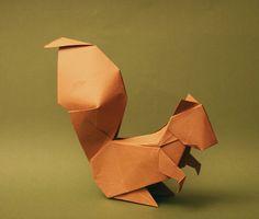 Squirrel origami.