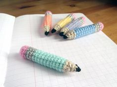 Download Tiny Pencils Amigurumi Pattern (FREE)