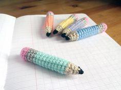 Tiny Pencils Amigurumi Pattern (FREE) - http://pinterest.com/Amigurumipins