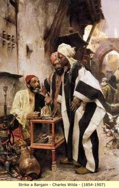 Arab and Berber (Moor) Paintings: Guards and Street Scenes