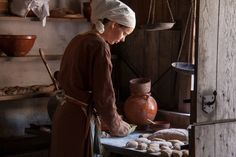 medievalvisions:  Medieval baker woman by Hans Splinter.