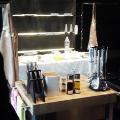 Ready! Milan Design Week 2013 / Showcooking / In the #Iceberg kitchen with Benedetta and Cristina Parodi. Kitchen accessories by #Tescoma.