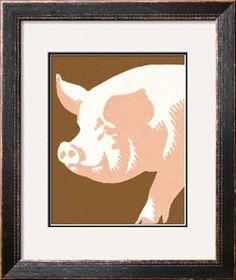 Pig Print at Art.com