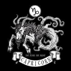 'Shub-Niggurath Capricorn' by Azhmodai Capricorn Tattoo, Capricorn Sign, Lovecraft Cthulhu, Eldritch Horror, Japanese Tattoo Art, Monster Art, Art Reference Poses, Zodiac Signs, Art Prints