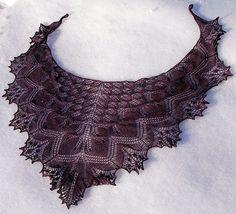 #Knit shawl - free pattern