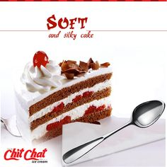 Soft as silk and irresistible taste. Enjoy your evening with friends at Chit Chat Food  http://www.chitchatindia.net/ | 93853 88800  #ChitChat #ChitChatFood #IceCream #Cakes #Snacks #chocolate #Cupcake