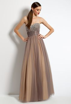 Beaded Bodice Two Tone Ball Gown #camillelavie