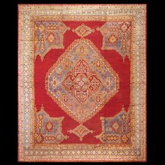 Stock Id: #40-1907    General Rug Type:       Turkish Decorative    Specific Rug Type:       Oushak    Circa: 1900    Color: Red    Origin: Turkey    Width: 12' 8'' ( 386.1 cm )    Length: 15' 3'' ( 464.8 cm )