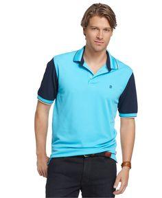59c3e63a Izod Shirt, Color-Blocked Performance Polo Shirt & Reviews - Polos - Men -  Macy's