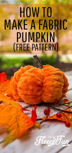 You can make this cute scrunched pumpkin with this free pdf pattern and video tutorial.  Perfect for your fall decor and easy to sew! #autumndecordiy #autumndecorationsdiy #fallsewingproject #pumpkin #autumnsewingprojects #autumnsewingpatterns Sewing Hacks, Sewing Tutorials, Sewing Ideas, Sewing Tips, Quilting For Beginners, Sewing For Beginners, Fall Sewing Projects, Fleece Projects, Craft Projects For Adults