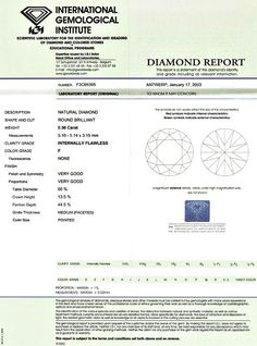 Foto 9, Diamant 0,50 ct Brilliant IGI lupenrein F Top Wesselton, D5186