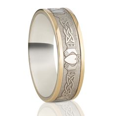 6.5 mm Celtic Claddagh Wedding Ring — Unique Celtic Wedding Rings