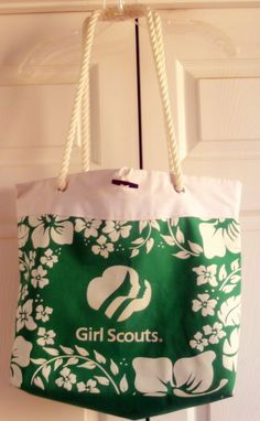 2004 #GirlScouts Canvas Carry All Travel Bag Cookie Promo Item #GirlScoutCookies