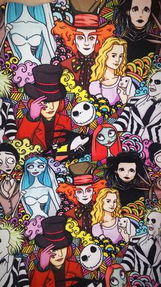 Personnages de film:Alice,willy wonka...
