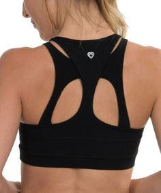 Look at this #zulilyfind! Colosseum Black Zenergy Cutout Sports Bra by Colosseum #zulilyfinds