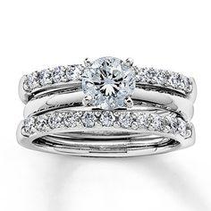 Jared - Diamond Enhancer Ring 1/2 ct tw Round-cut 14K White Gold