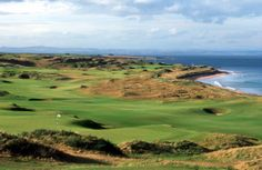 Golf course in Scotland, Kingsbarns. Golfbaan in Schotland.