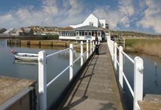 Riverside restaurant, West Bay, Dorset. One of the best restaurants in Dorset, specialises in fish and feels a bit like you're in Brittany.