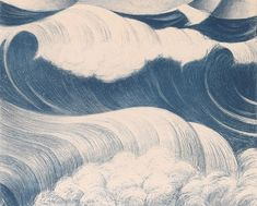 redlipstickresurrected: C. Nevinson aka Christopher Richard Wynne Nevinson (British, b. Hampstead, UK) - The Wave, 1917 Lithograph No Wave, Art And Illustration, Wave Drawing, Historia Natural, Art Asiatique, Art Textile, All Nature, Old Paintings, Sea Waves