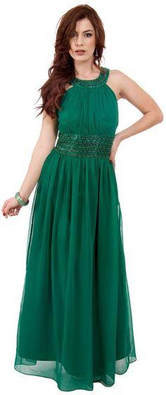 15999 Dark Green Prom Dress