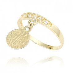 Anillo de oro para mujer. Gold Rings, Wedding Rings, Lenses, Women