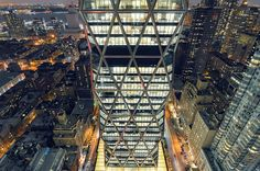 Hearst Tower at Night, New York City by andrew c mace, via Flickr