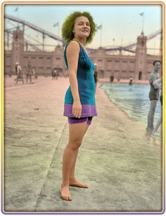 Shorpy Historical Photo Archive: Miss Eleanor Tierney. (Colorized Photo).