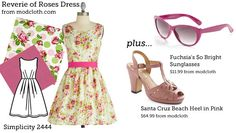 (via Make This Look: Reverie of Roses Dress | The Sew Weekly - Sewing  Vintage Lifestyle) Simplicity 2444