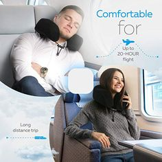 Everlasting Comfort 100 Pure Memory Foam Neck Pillow Airplane Travel Kit with Ultra Plush Velour Cover, Sleep Mask and Earplugs, Travel Pillow Airplane, Neck Pillow Travel, Travel Pillows, Neck Support Pillow, Support Pillows, Best Neck Pillow, Neck And Shoulder Muscles, Travel Office, Travel Kits