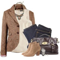 Fall classy by steffiestaffie on Polyvore featuring moda, RetroSuperFuture, Jack Wills, J Brand, J.Crew, Mulberry, David Yurman and Henri Bendel