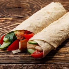 Simple Chicken And Cucumber Wraps