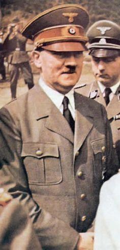 German World War 2 Colour Hitler Close Up