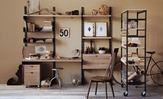 How to Bring an Industrial Look to Your Home Office -- The Interior Collective - Japanese Trash