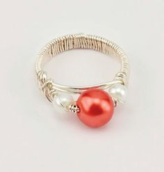 Red Rouge Pearl #Ring