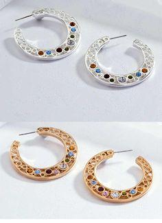 Las candongas siguen en furor.  Joyería Dupree Colombia Crochet Earrings, Hoop Earrings, Jewelry, Fashion, Jewelry Trends, Feminine Fashion, Accessories, Colombia, Jewlery