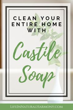 Clean your entire home with Castile soap! Eliminate harmful chemical cleaners from your cleaning routine. Castile Soap Uses, Castile Soap Recipes, Homemade Soap Recipes, Natural Cleaning Solutions, Natural Cleaning Products, Essential Oils Cleaning, Soap Display, Lavender Soap, Glycerin Soap
