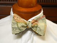 World Map Bow Tie by DesignPlusMe on Etsy